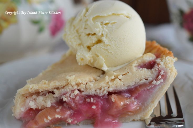 Rustic Rhubarb Pie | My Island Bistro Kitchen