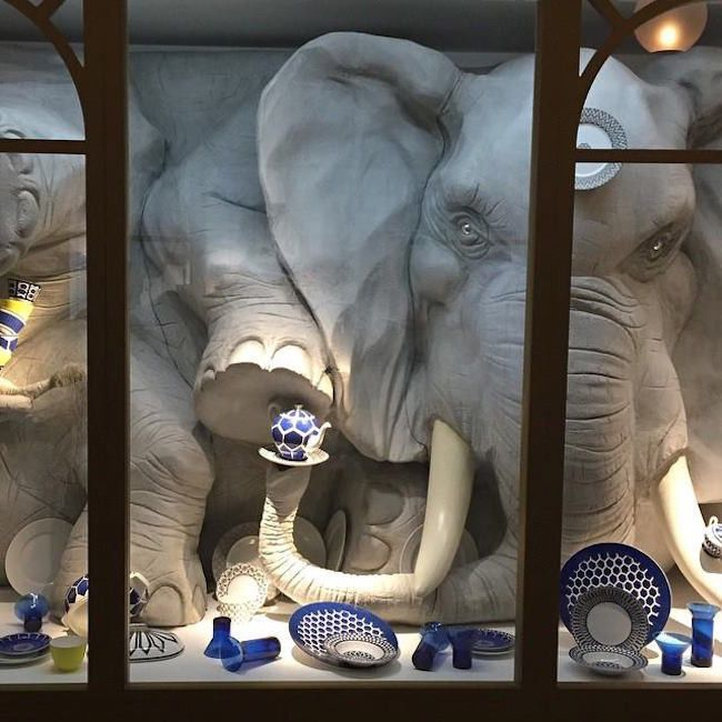 This would take a lot of paper mache, but wow. 1-bull Spotted | A Bull Elephant in a China Shop