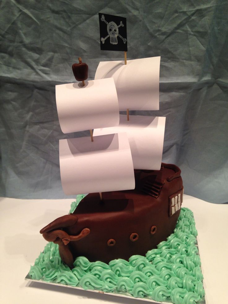 Birthday's cake for my best friend who loves sailing!