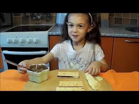 Шоколадно-банановый десерт с крекерами