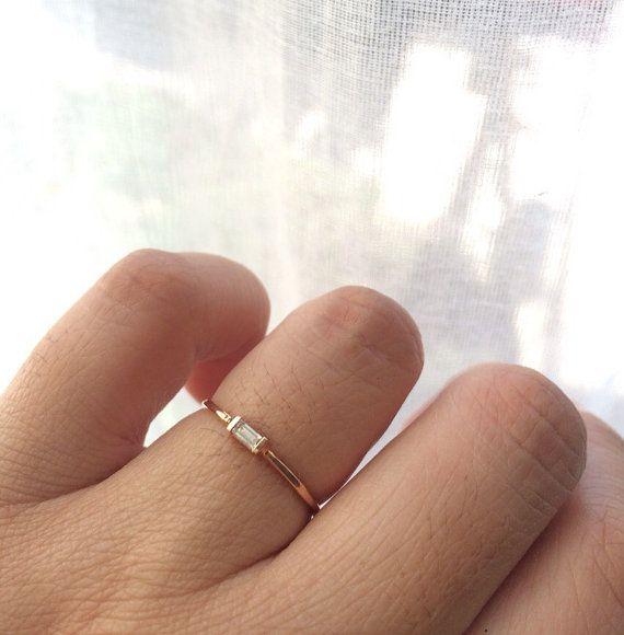 Diamond Baguette Ring Diamond Baguette by charlieandmarcelle