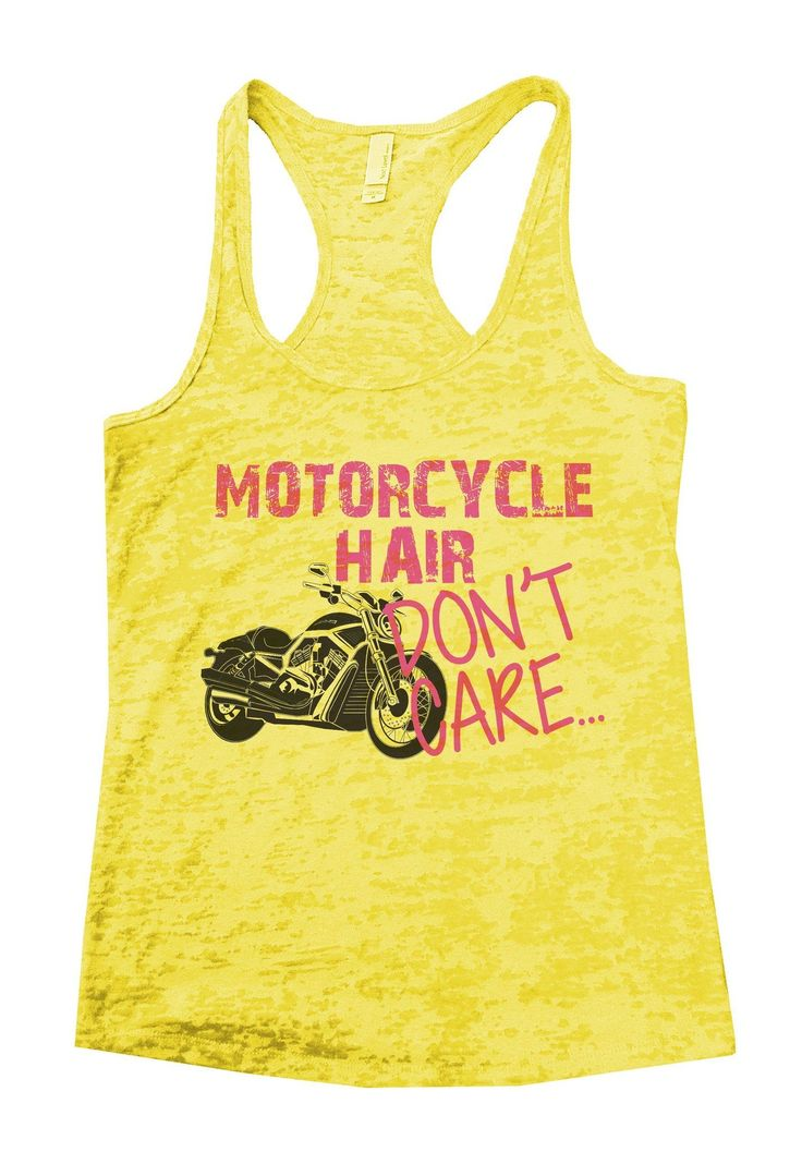 Motorrad-Haar interessieren sich nicht Burnout-Trägershirt durch lustiges Threadz  – Products