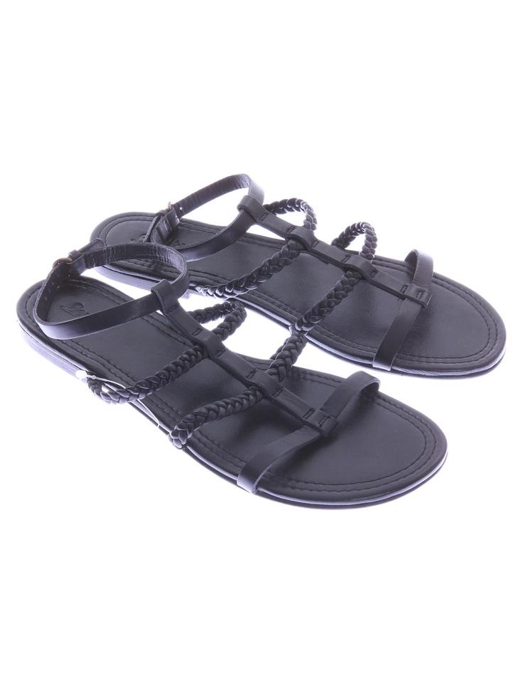 Levi `s sandale negre pentru femei