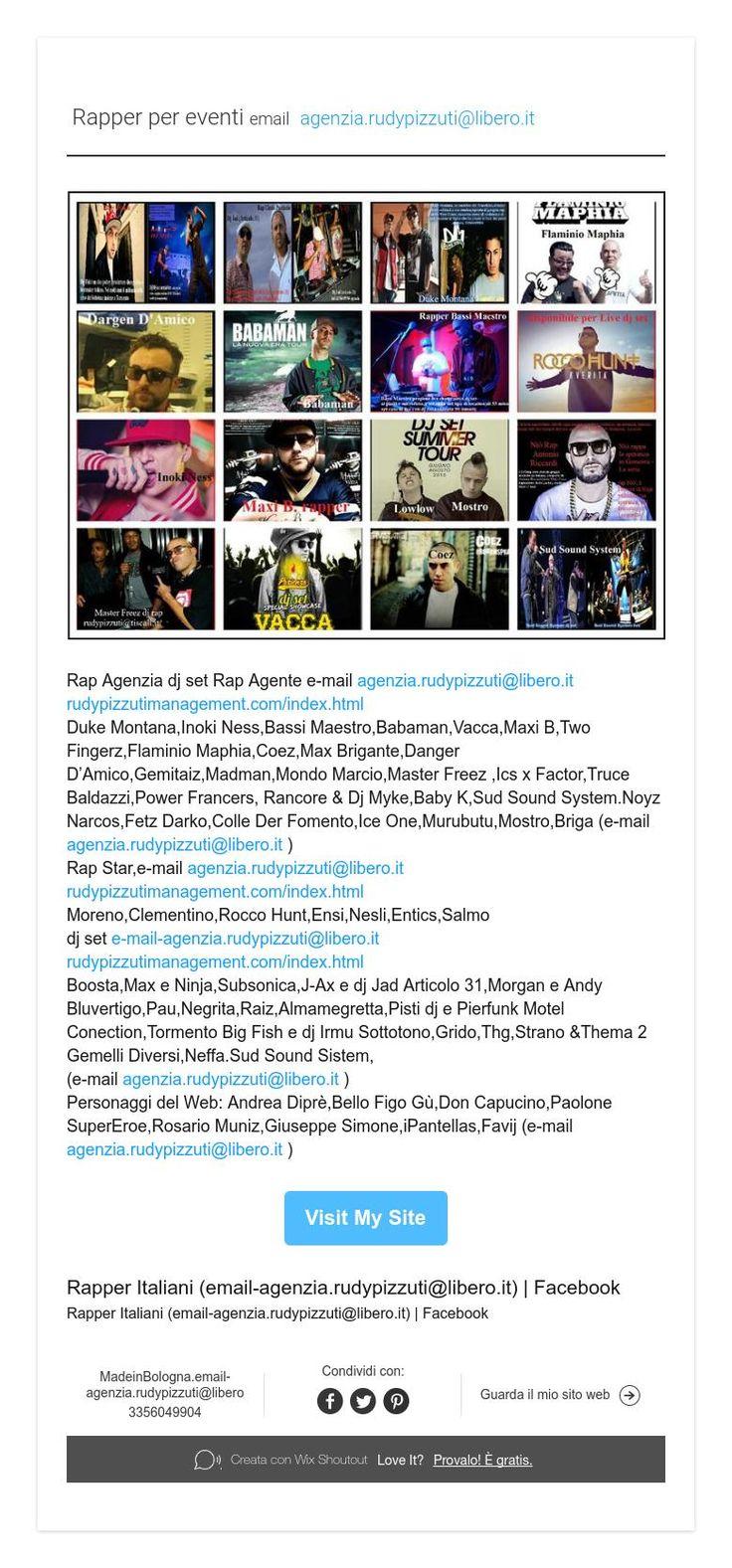 Rapper per eventi emailagenzia.rudypizzuti@libero.it