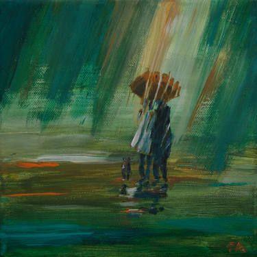 """Saatchi Art Artist Anna Felföldi; Painting, """"November walk"""" #art"""