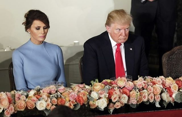 Melania Trump cans trip to Davos with husband Donald amid affair claims while she was pregnant. The same day as their Wedding Anniversary. Happy Anniversary! Any tips on how you two keep the magic alive?