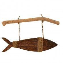 Fish Hanging On Driftwood (Natural)