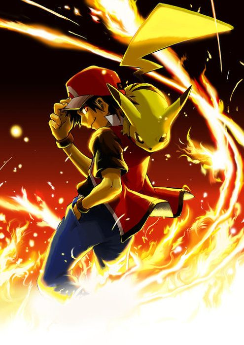 pokemon trainer red | Direct link to this image file