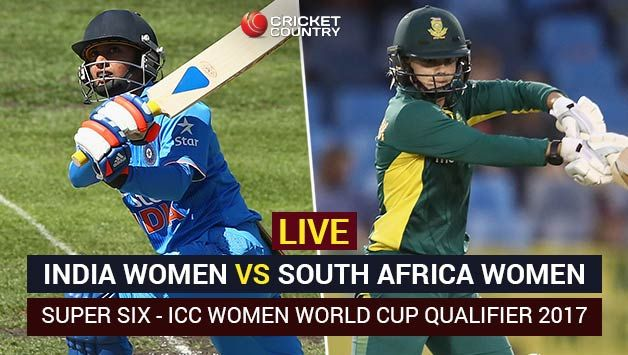 Live Cricket Score, India vs South Africa, ICC Women World Cup Qualifier 2017, Super Six: IND win by 49 runs