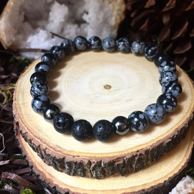 Snowflake Obsidian is a stone of serenity and purity, and can shield against negativity.