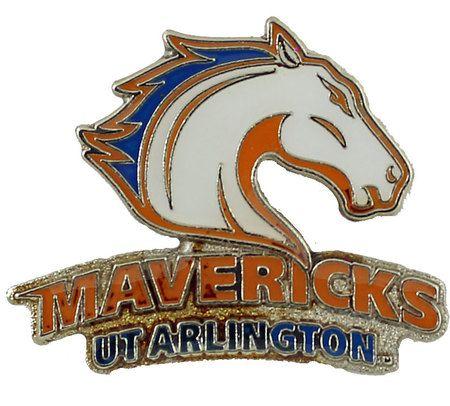 Texas Arlington Mavericks Logo Pin