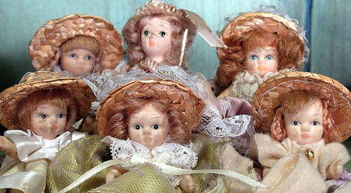 Muñecas de cerámica en miniatura,  Sonia Carroza Antiguedades