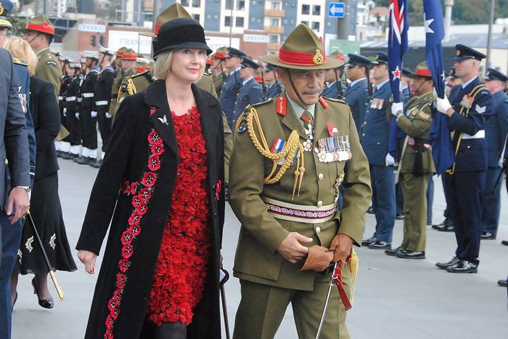 Anzac Day National Commemorative Service at Pukeahu, where the Governor-General, Sir Jerry Mateparae.