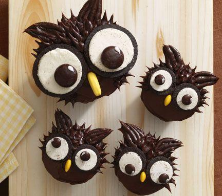 owl cupcakesIdeas, Cupcakes Decor, Food, Owls Cupcakes, Halloween Cupcakes, Owl Cupcakes, Big Eye, Cupcakes Rosa-Choqu, Baby Shower