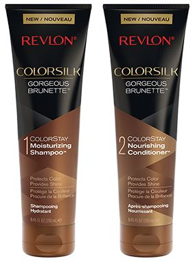 Browse unbiased reviews and compare prices for Revlon ColorSilk Shampoo & Conditioner Gorgeous Brunette. I have problems with grey's at the roots showing before I need to recolor. I have used this several times Revlon ColorSilk Shampoo and Conditioner and it does a decent job. it definitely brightens the color and covers the Grey a little but not 100%