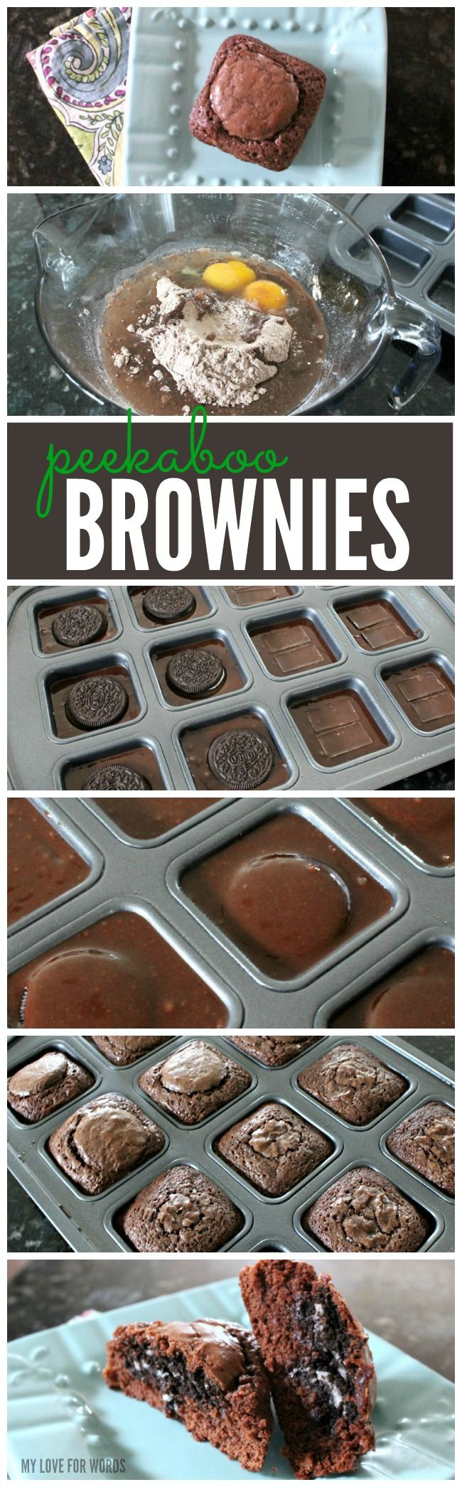 If you'd told me that brownies could get even better I would've thought you were crazy, and then I tried these peekaboo brownies. Easy and delicious. A MUST TRY!