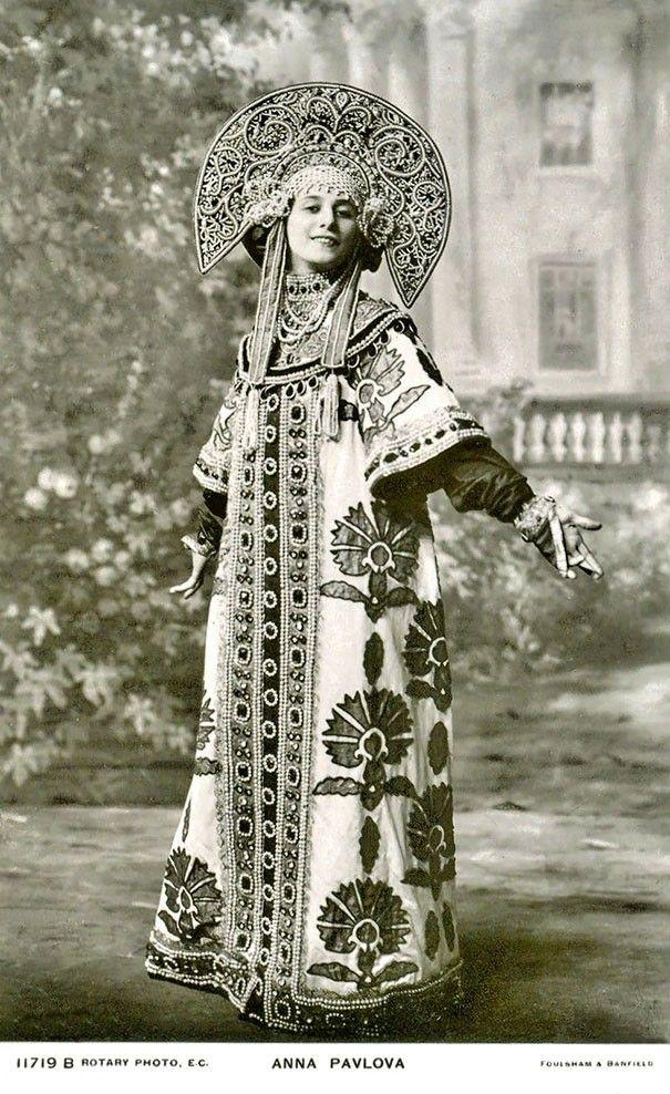 ANNA PAVLOVNA, PRIMA BALLERINA RUSSA (FOTO: FLICKR) - Cartão postal de 1900 mostram a beleza feminina da época