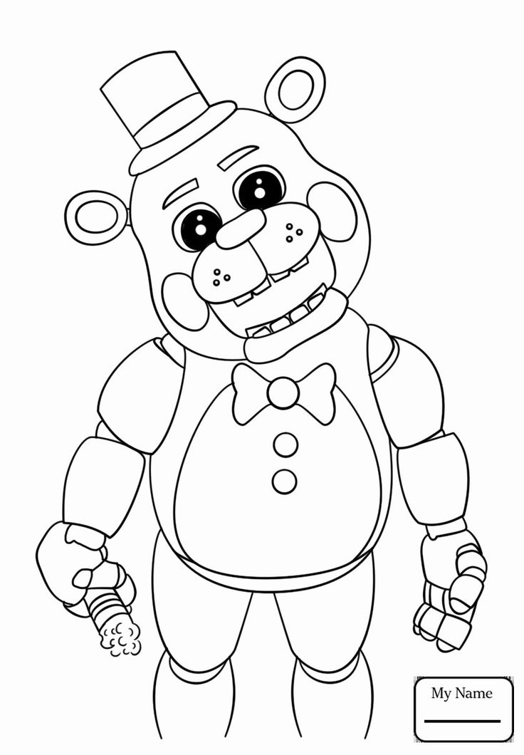 five nights at freddy's coloring page unique cool simple