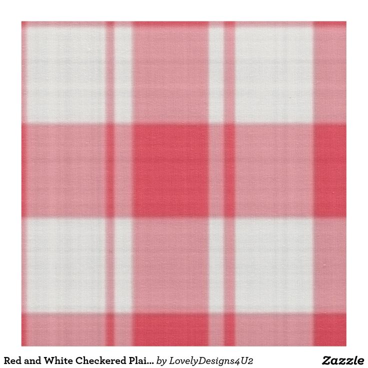 Red and White Checkered Plaid Pattern Fabric