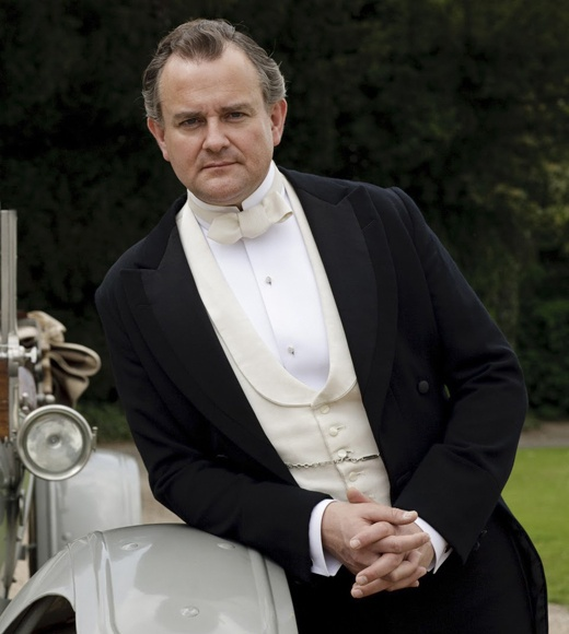 Hugh Bonneville as Lord Grantham. His valet always keeps him in tip-top shape!