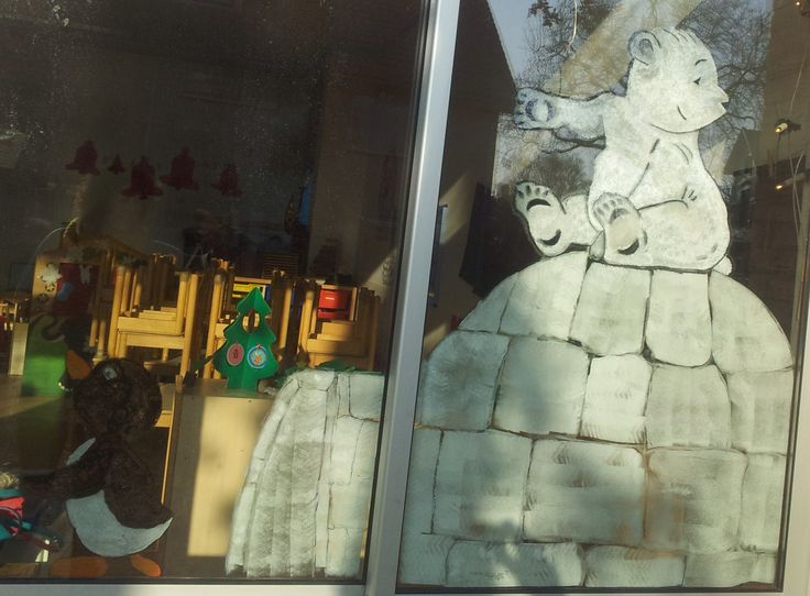 Window paint, winter