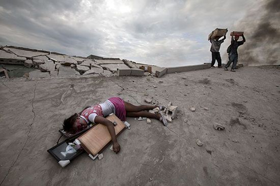 During the aftermath of the devastating earthquake in Haiti, a number of images…