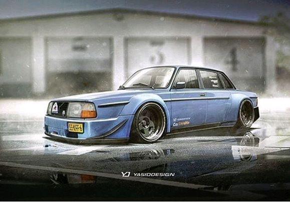 Nice 240 rendering by Yasiddesign | volvo area | Volvo cars, Volvo 240, Cars