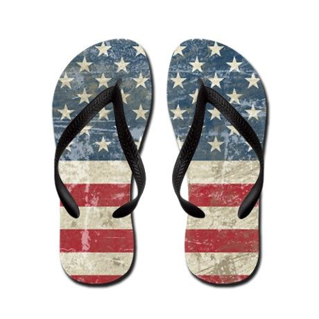 Unisex Non-slip Flip Flops Eagle Firework Usa Flag Cool Beach Slippers Sandal