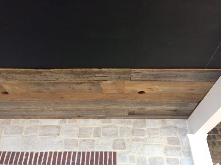 How We Installed Barn Wood on Our Porch Ceiling | Barn ...