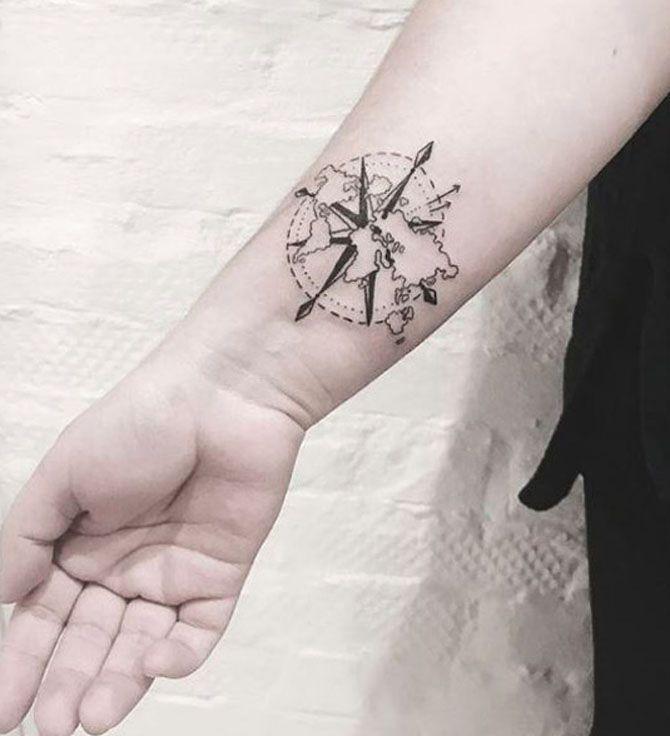 Oltre 25 fantastiche idee su rosa dei venti su pinterest for Bussola tattoo significato