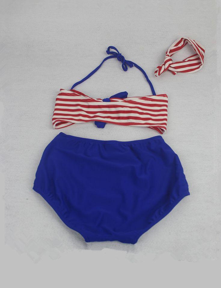 Aliexpress.com: Comprar 2 9Y Lindo niñas traje de baño del arco iris cadena Franja Bikini Biquini traje de baño traje de baño para niños de alta de la cintura del niño infantils de bikini two fiable proveedores en Happy BiBi Mall