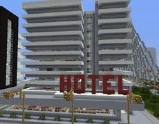 Stunning Modern City Hotel GrabCraft Your number one source for MineCraft buildings blueprints