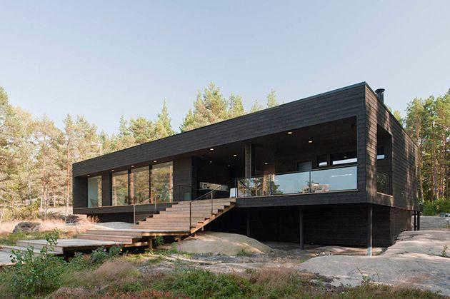 Die unauffällige Sommer-Villa in Finnland