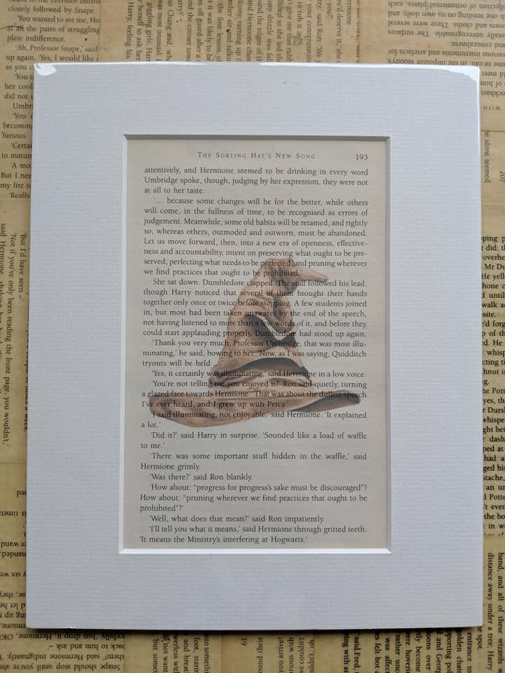The Sorting Hat Harry Potter Inspired Book Page Print Etsy Book Pages The Burrow Harry Potter Harry Potter