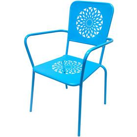Picture of Flower Stamp Stack Chair Turquoise