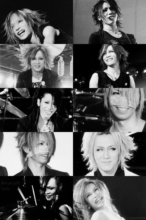 the GazettE. I love their smiles. :D <3