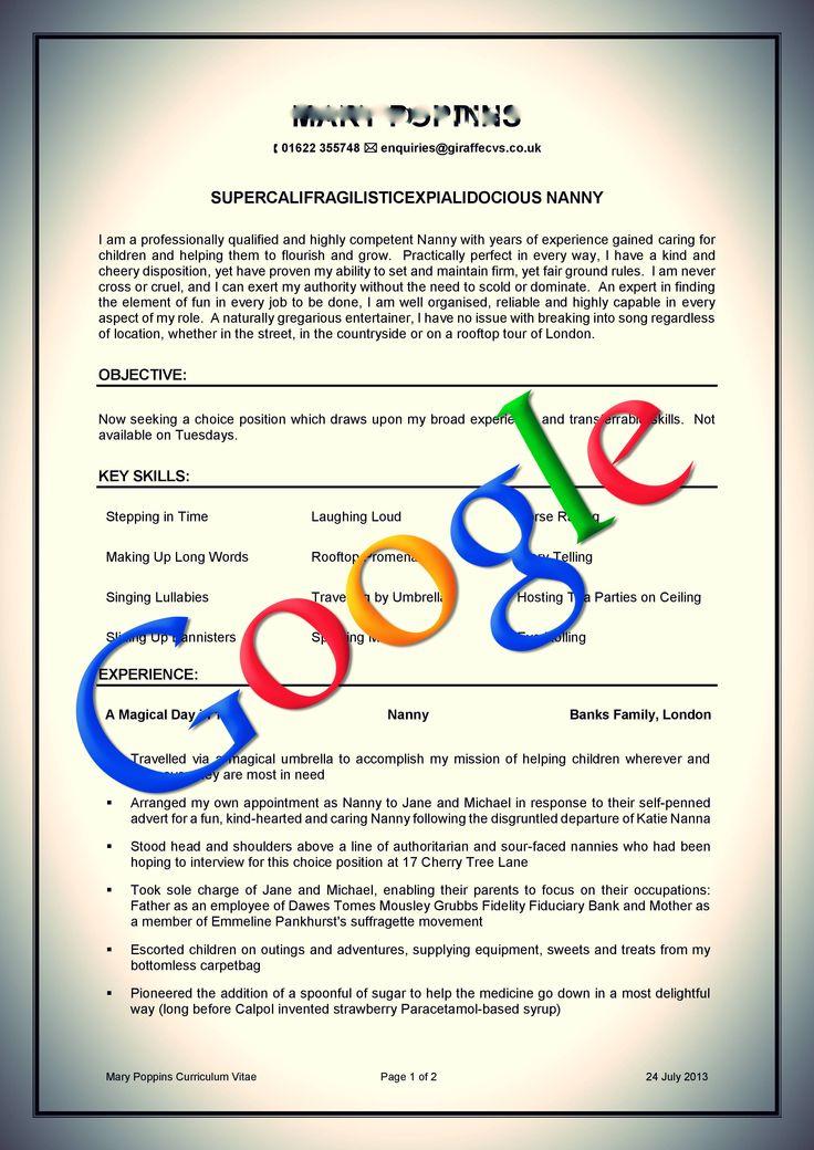 cv for google job - Pinarkubkireklamowe