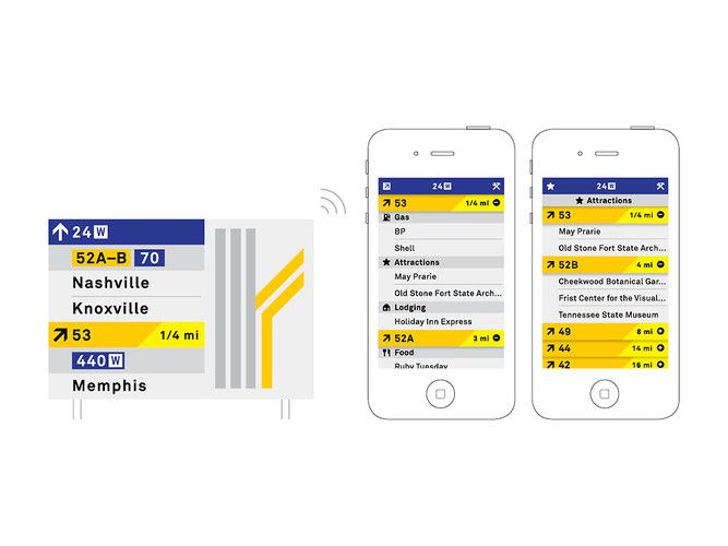 3 | Redesigning Highway Signs, To Talk To Your Smartphone | Co.Design: business + innovation + design