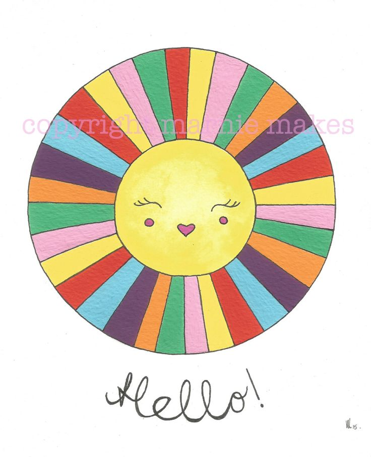 Hello Sunshine - giclee print by marniemaurri on Etsy