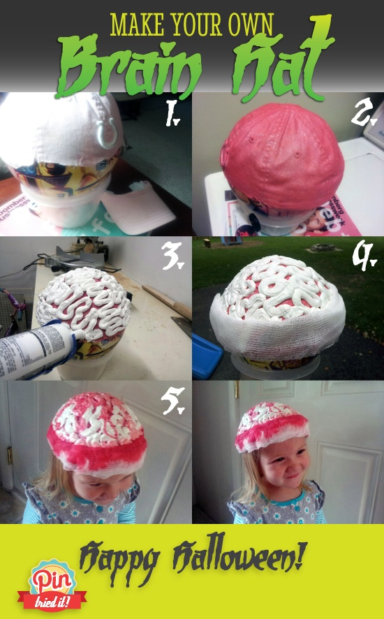 Make a Brain Hat for Halloween