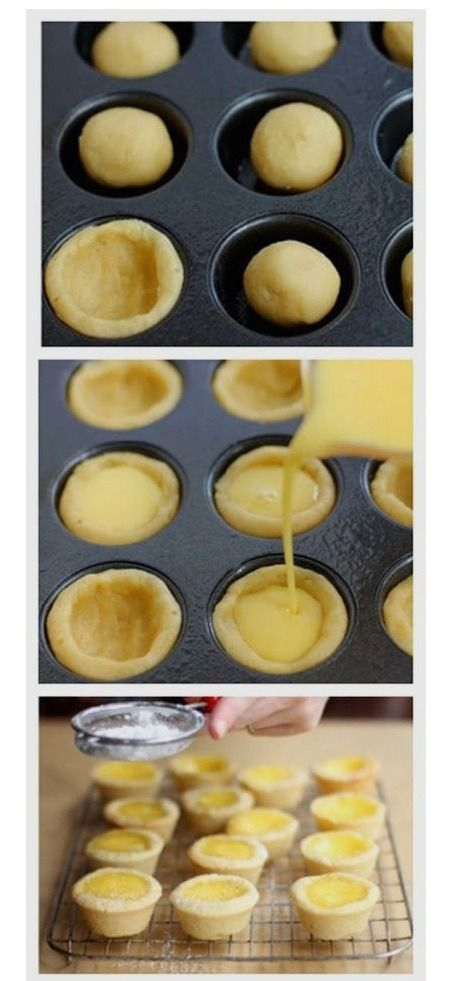 Sugar Cookies Lemon Tarts