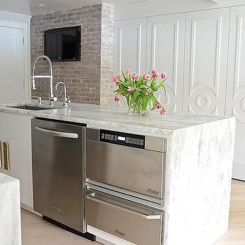 are white kitchen cabinets just a fad 17 best ideas about waterfall countertop on 10730