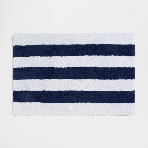 Image of the product BLUE STRIPED BATH MAT