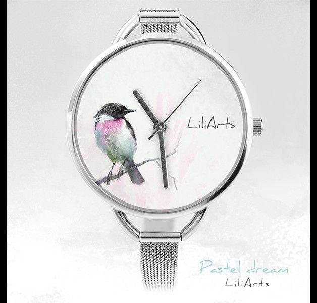 Pastel Dream. Niezwykła bransoletka, zegarek z naszą autorską grafiką.  Średnica koperty zegarka 3,5 cm. Szerokość paska 8 mm, długość paska ok. 22 cm. Obwód regulowany, pasuje na nadgarstek...