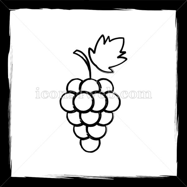 Grape Sketch Icon With Images Sketch Icon Outline Designs Sketches
