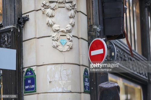 03-31 PARIS, FRANCE - JANUARY 29: A diamond by street artist... #saintpetersburg: 03-31 PARIS, FRANCE - JANUARY 29: A… #saintpetersburg