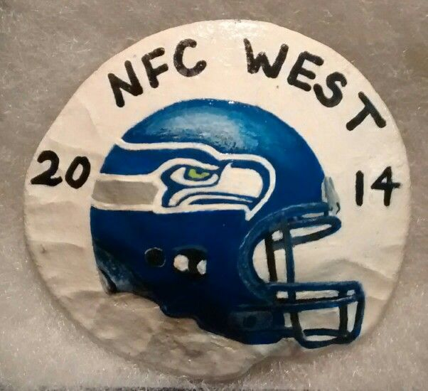 GO HAWKS! (Handpainted by Brenda Preston)