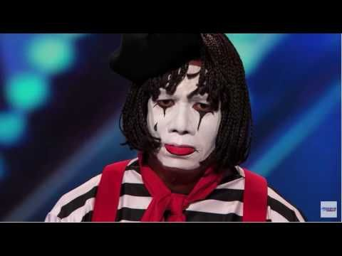 Larry The Mime,Nick Cannon pranks judges/AGT Reaction: THIS IS FUNNY.