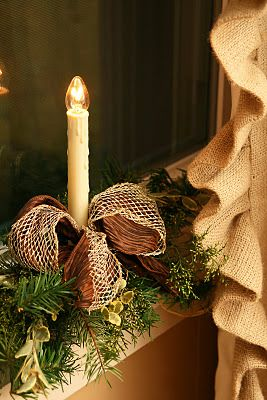 Some people may think the candles you put in your windows may be a little old-fashioned, but I love them. I remember my Mom always putting them out and it reminds me of Christmas as a child.