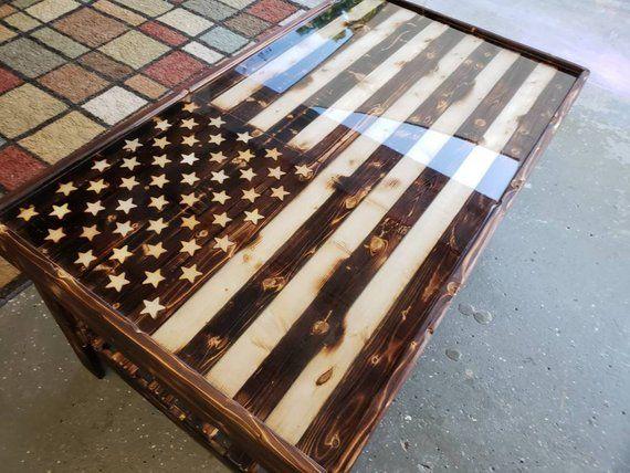 American Flag Coffee Table Coffee Table Diy Coffee Table
